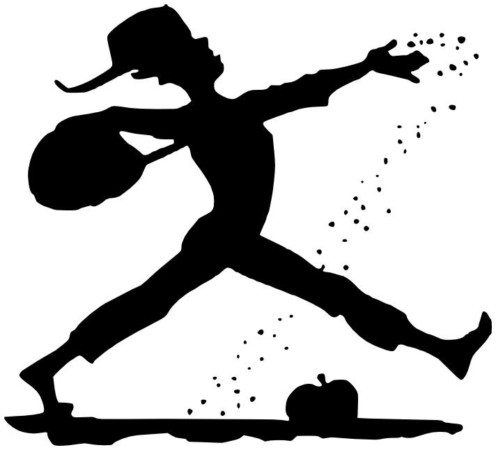 johnny appleseed silhouette   american history  historic figures  johnny appleseed  johnny clip art apples free clipart apple picking