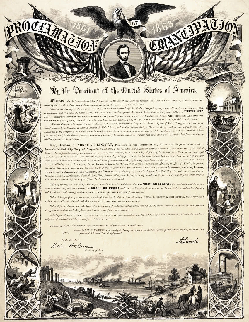 Emancipation Proclamation ornate - /American_History/civil ...