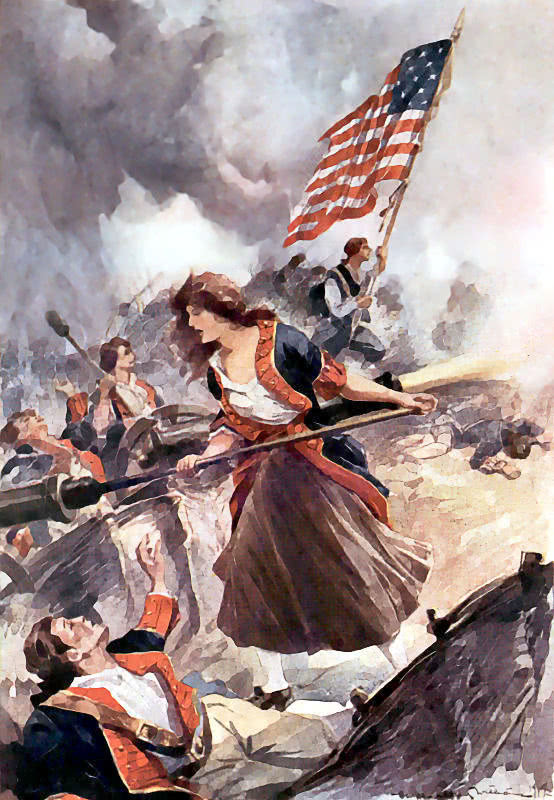 molly pitcher large painting american history revolution