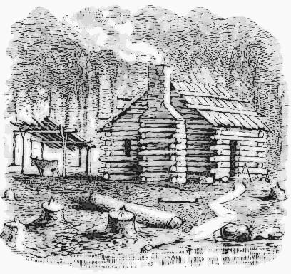 a settlers log cabin - /American_History/settlement ...