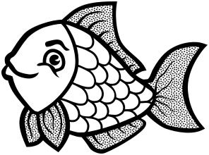 fish clip BW - /animals/aquatic/fish/clipart/clipart_2 ...
