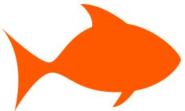 fish outline orange   animals  aquatic  fish  clipart clip art of fishing lures clip art of fishing boats