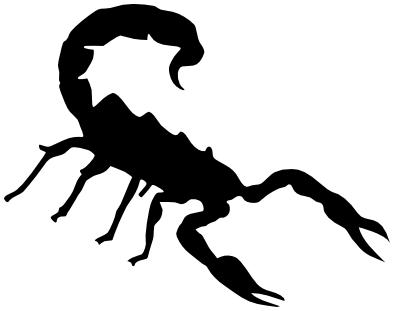 scorpion silhouette   animals  bugs  s  scorpion  scorpion logo clip art free download log clipart