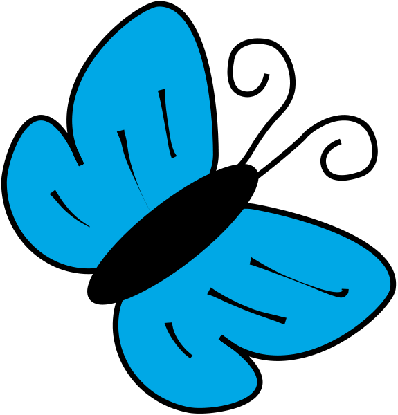 butterfly clip art cyan - /animals/bugs/butterfly/butterfly_basic_art ...