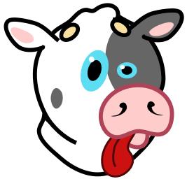 goofy cow art