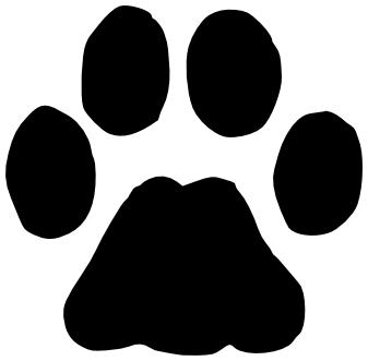 bobcat paw print clip art animal kid rh skindustry info Wildcat Clip Art Logo Kentucky Wildcats Clip Art