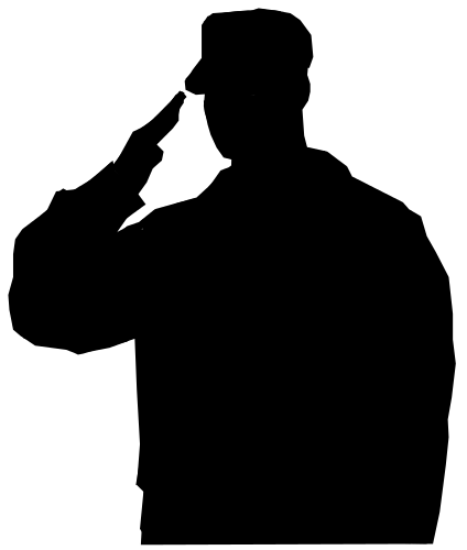 army soldier silhouette armed services army soldier silhouette