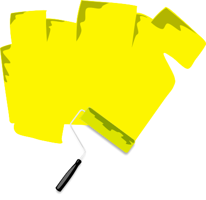Paint Roller Sign Yellow