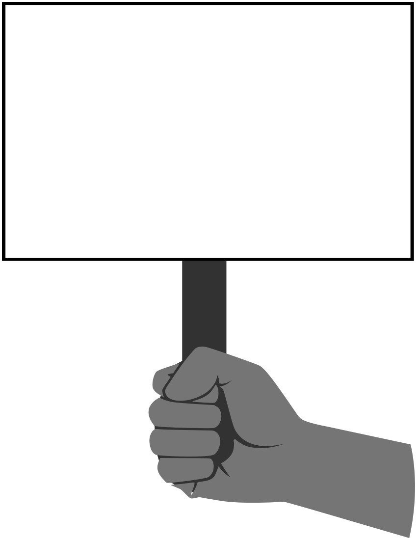 Fist Holding Sign Blanks Fist Holding Sign Png Html