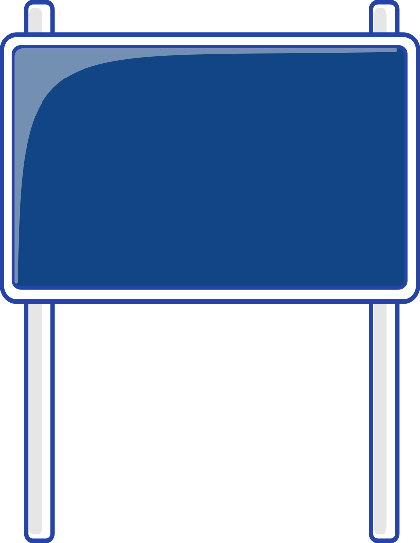 road sign blue   blanks  road signs  highway signs  road blank sign clip art free blank street sign clipart