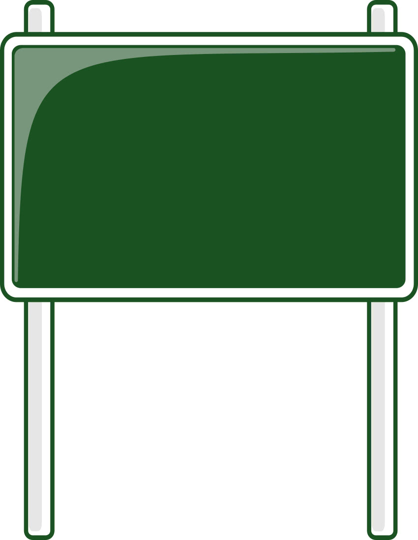 road sign green - /blanks/road_signs/highway_signs/road ...