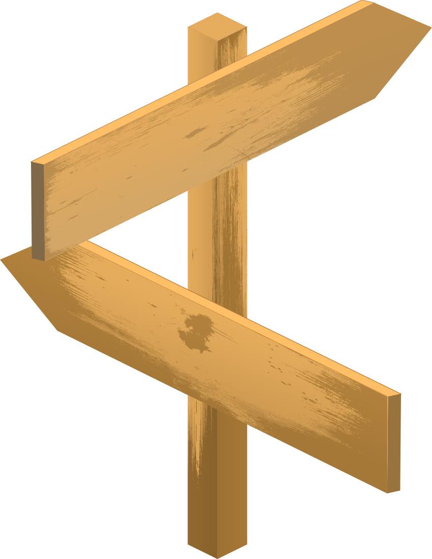 Wooden blank arrow sign blanks wood