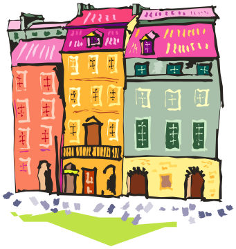 apartments city clipart - /buildings/city/apartment ...