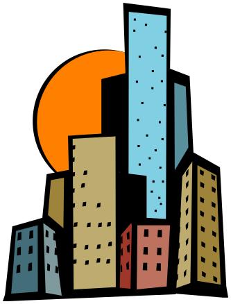 Skyscraper Bright Clipart Buildings City Skyscrapers