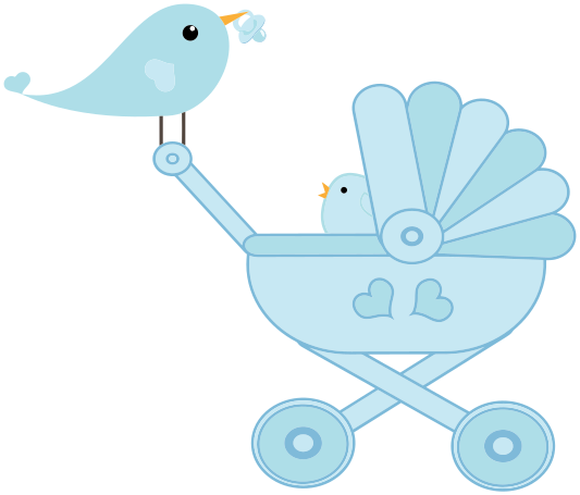 Baby Bird Stroller Mom And Whale Svg