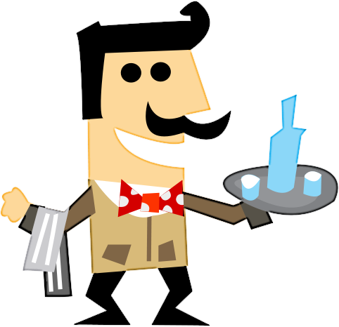 waiter   cartoon  people  men cartoons  it raining men water clipart water clip art free download