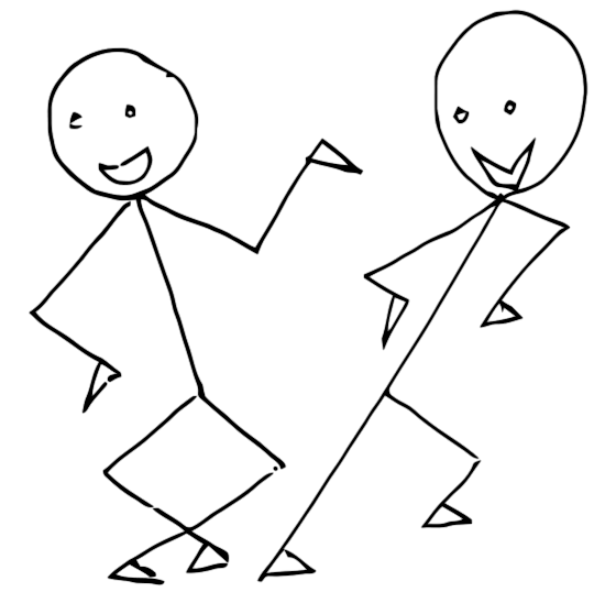 dancing stick people   cartoon  people  people cartoons 2 clipart girl softball player clipart girl waving