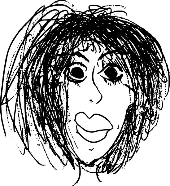 Woman Frizzy Hair Cartoon People Women Cartoons More
