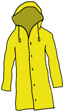 Rain Coat Clip Art raincoat yellow - /clo...