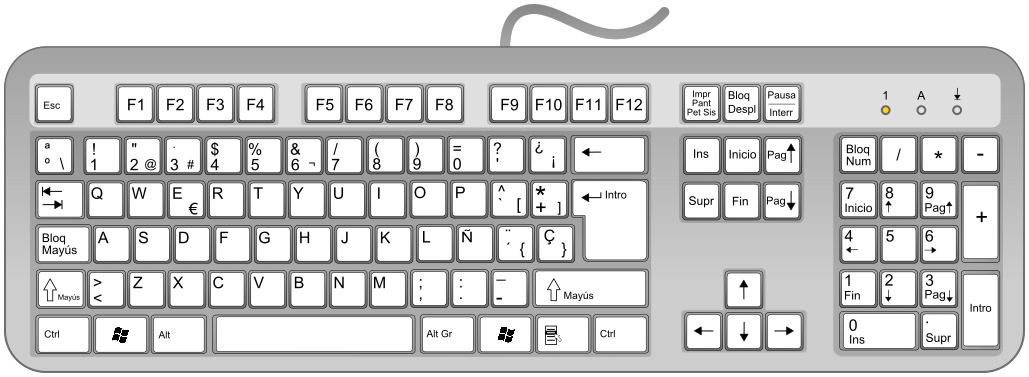 keyboard spanish computerhardwarekeyboardkeyboard2