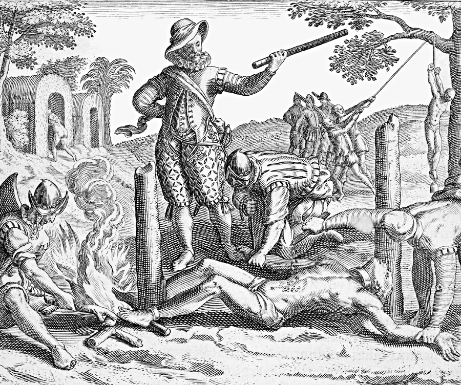 the brutality of the european invasion of the new world in the documentations of bartolome de las ca Bartolomé de las casas, protector of indians, was a 16th century spanish missionary with a passion for social justice he believed that the conquistadors slashed and slaughtered their way like 'ravening wild beasts' across the 'new world' not solely in homage to christ, but to 'swell themselves with.