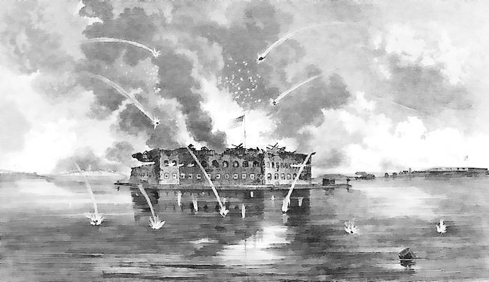 bombardment of fort sumter 1861  american history  civil war  battles  bombardment of fort sumter