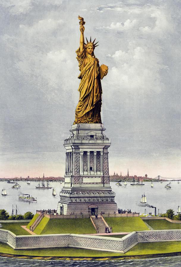 Liberty Statue Still Copper Color American History