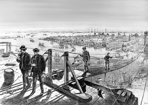 building of brooklyn bridge   american history  other clip art construction worker clip art construction images