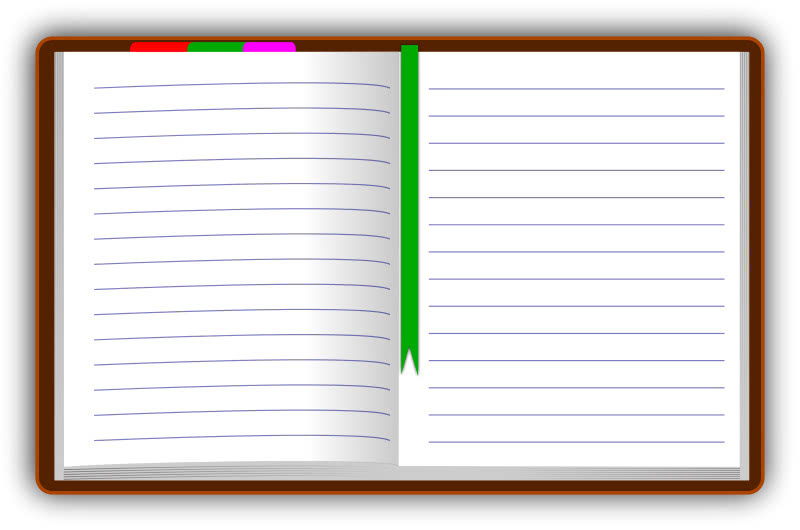 Diary Open Blank Blanks Book Blank Diary Open Blank Png
