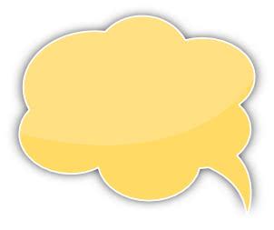 speech bubble cloud yellow left   blanks  callouts  color light clip art free light clip art transparent