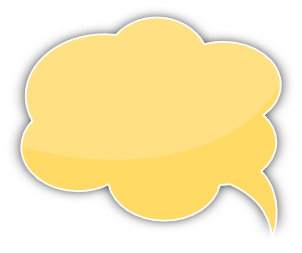 speech bubble cloud yellow left   blanks  callouts  color speech clip art for kids speech clip art for kids