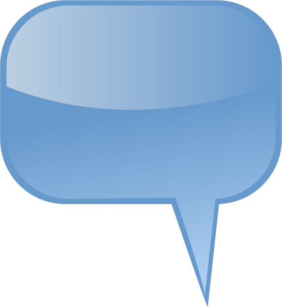 Speech Bubble Light Blue Blanks Callouts Color Speech