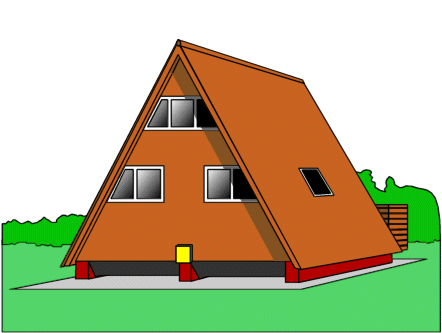 A Frame House Buildings Homes A Frame House Png Html