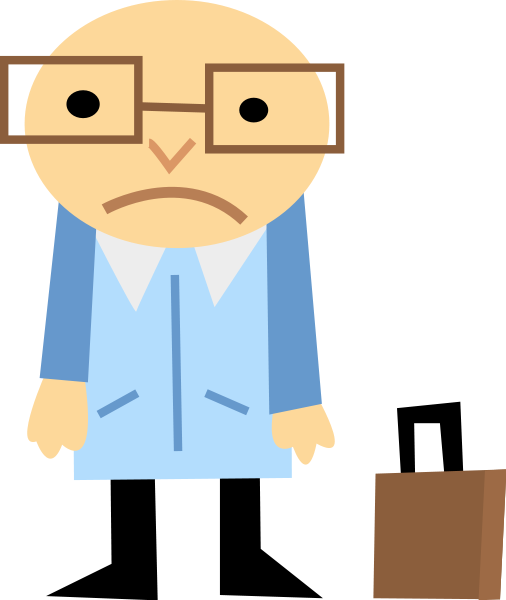 Sad man animated