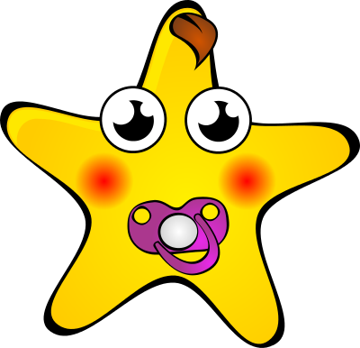 Star Baby Pacifier Cartoon Stars Star Baby Pacifier Png
