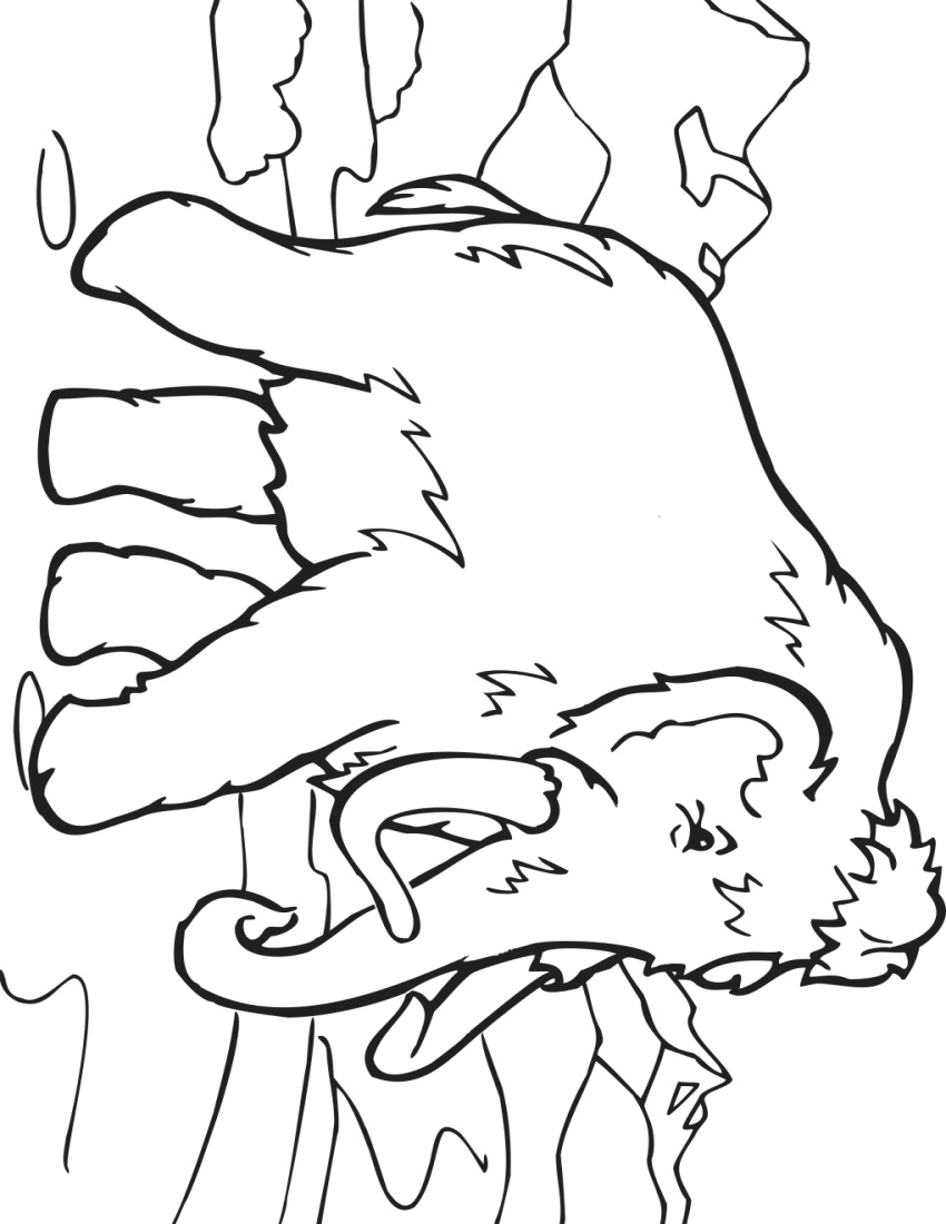 Coloring book mammoth education coloring pages animals Coloring book of farting animals