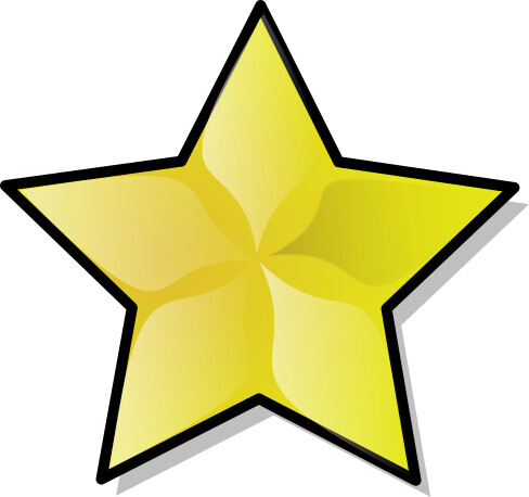 large gold star   education  gold stars  large gold star clipart of a starburst clipart of a starfish