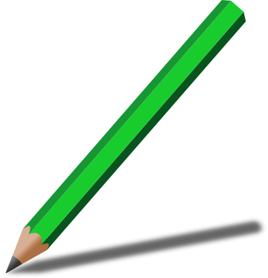 pencil with shadow green   education  supplies  pencils Back to school Common Core Clipart