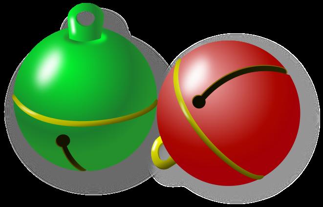 Jingle Bells Green Red Holiday Christmas Bells Jingle