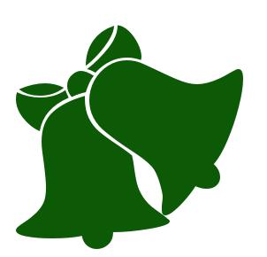bells 1 grn   holiday  christmas  green  bell  bells 1 grn bells clip art images bells clipart outline