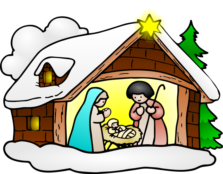 nativity large   holiday  christmas  religious  nativity luncheon clip art images lunch clip art pictures