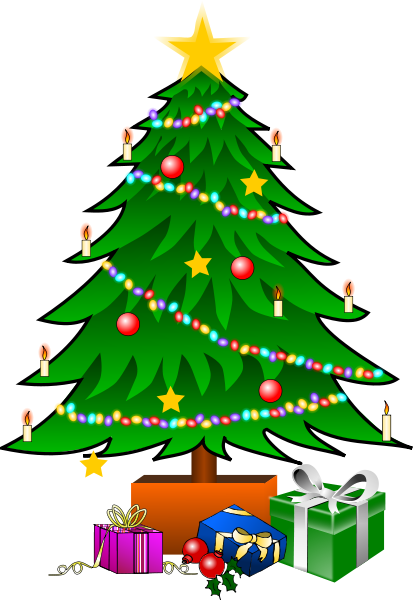 christmas tree with gifts   holiday  christmas  trees  more christmas tree clip art free images christmas tree clip art outline