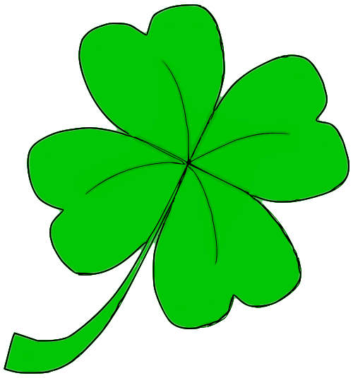 four leaf clover 03   holiday  saint patricks day  clover shamrock clipart free shamrock clip art free black and white