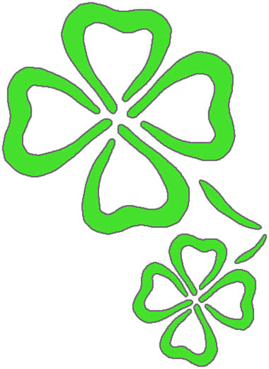 clover outlines   holiday  saint patricks day  clover shamrock clip art border shamrock clip art labels
