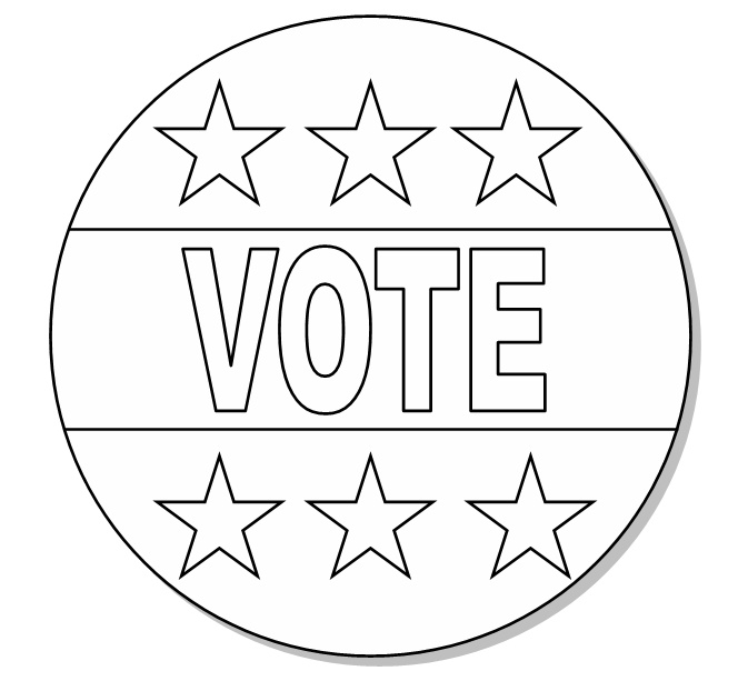 vote button color me   holiday  election day  election election day 2018 clipart election day clipart black and white
