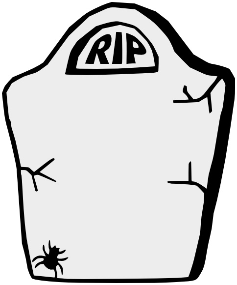 Gravestone w spider holiday halloween graveyard more for Tombstone templates for halloween