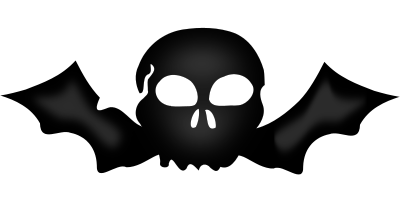 bat skull   holiday  halloween  skull  skulls 2  bat skull halloween bat clip art images halloween bat clip art pictures