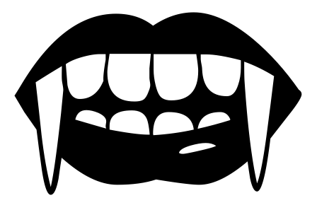 vampire fangs   holiday  halloween  vampire  vampire fangs halloween clipart black and white halloween clip art free images