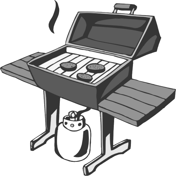 butane bbq grill bw   household  odds and ends  bbq  butane grill clip art png grill clip art image