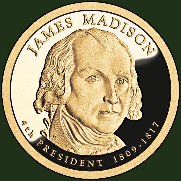 James Madison Coin Money Coins Presidential Coins James